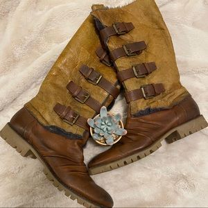 Boutique 9 Brown Shearling Lined Boots Size 7.5